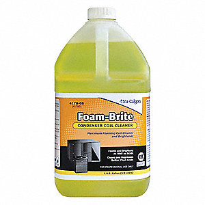 Liquid Condenser Coil Cleaner, 1 gal., Yellow Color, 1 EA