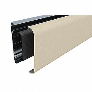 "Wall Guard, Oatmeal, Plastic, 144"" Length, 6"" Height, 1"" Thickness"