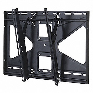 "Universal TV Mount,Tilt,Black 3-1/2"" D"