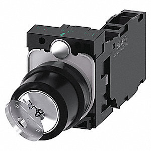 Non-Illuminated Selector Switch,  22 mm,  2,  Maintained / Maintained,  1NO/1NC,  Keyed