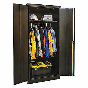 "Commercial Storage Cabinet, Black, 78"" H X 36"" W X 18"" D, Unassembled"