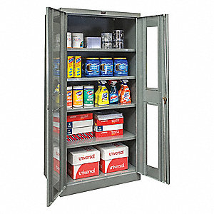 "Commercial Storage Cabinet, Dark Gray, 78"" H X 48"" W X 18"" D, Unassembled"