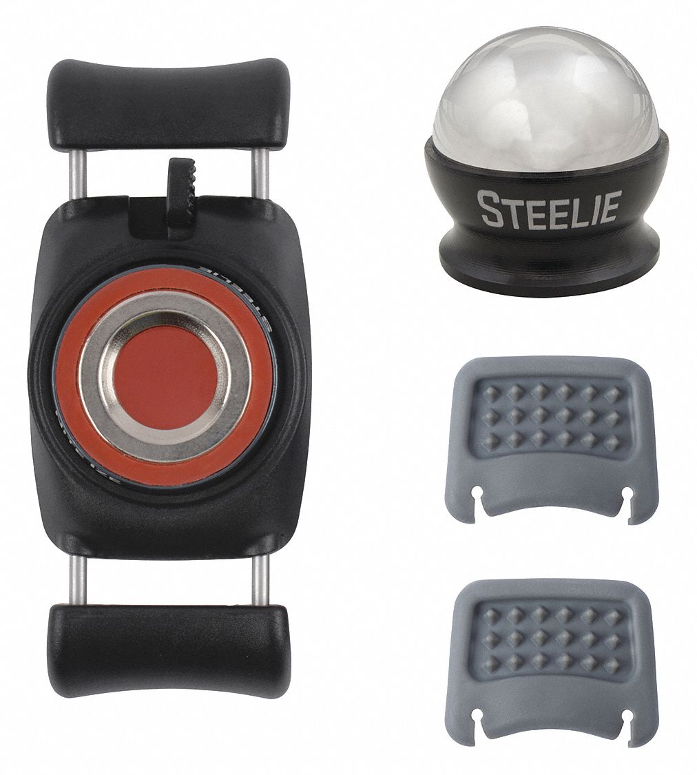 Steelie Car Mount Kit,  Fits Brand Various Electronic Devices,  Black/Silver,  Stainless Steel