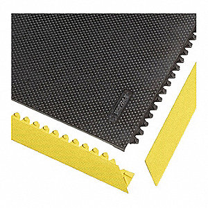 "Mat Ramp Border/Female, Heavy Duty, 3 ft. L, 2"", Yellow"