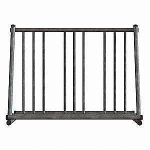 "Bike Rack, Sil, 29-3/4"" H, Holds (6) Bikes"