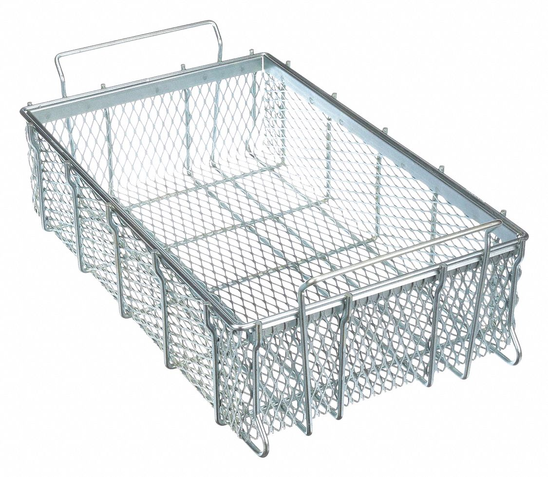 """MARLIN STEEL WIRE PRODUCTS 00-00363278-38 Basket,SS,1//2/"""" Mesh Size,17-29//32/"""" L"""