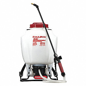 Backpack Sprayer, Polyethylene Tank Material, 4 gal., 30 psi Max Sprayer Pressure