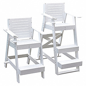 "Lifeguard Chair, 42"" Seat Height, HDPE"