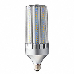 45 Watts LED Lamp, Cylindrical, Medium Screw (E26), 6619 Lumens, 5700K Bulb Color Temp.
