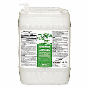 Cleaner, Disinfectant and Sanitizer, 5 gal  Pail with Spigot, Alcohol  Liquid, Ready to Use, 1 EA