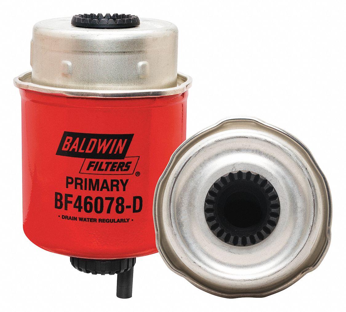 BALDWIN FILTERS Fuel Filter, Can-Type Filter Design - 417D27|BF46078-D -  Grainger