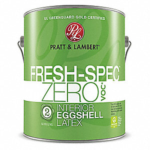 Eggshell Interior Paint, Latex, Designer White, 1 gal.