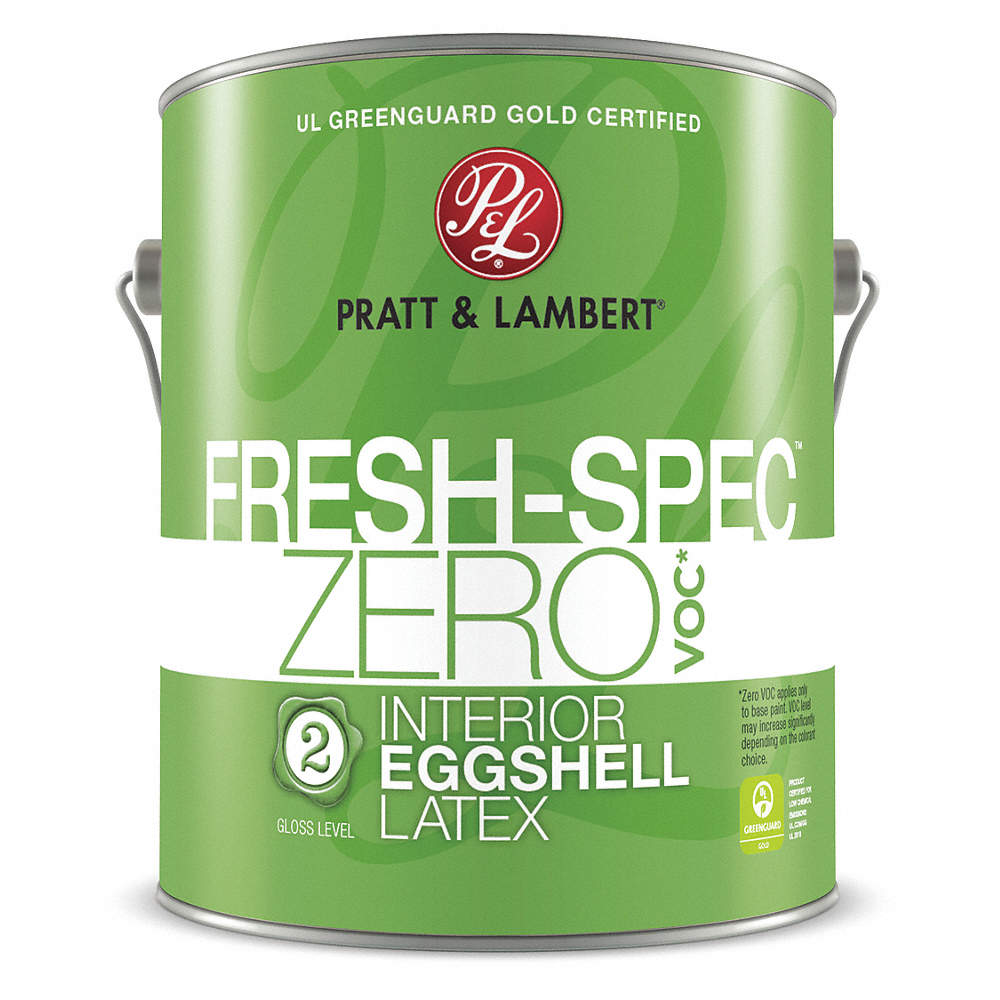 PRATT & LAMBERT Eggshell Interior Paint, Latex, Swiss Coffee, 1 ...