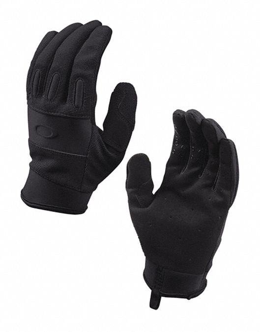 Tactical Glove,  AX Suede Palm Material,  XL,  Black,  Unlined,  1 PR