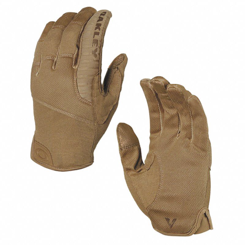 Tactical Glove,  AX Suede Palm Material,  M,  Brown,  Unlined,  1 PR