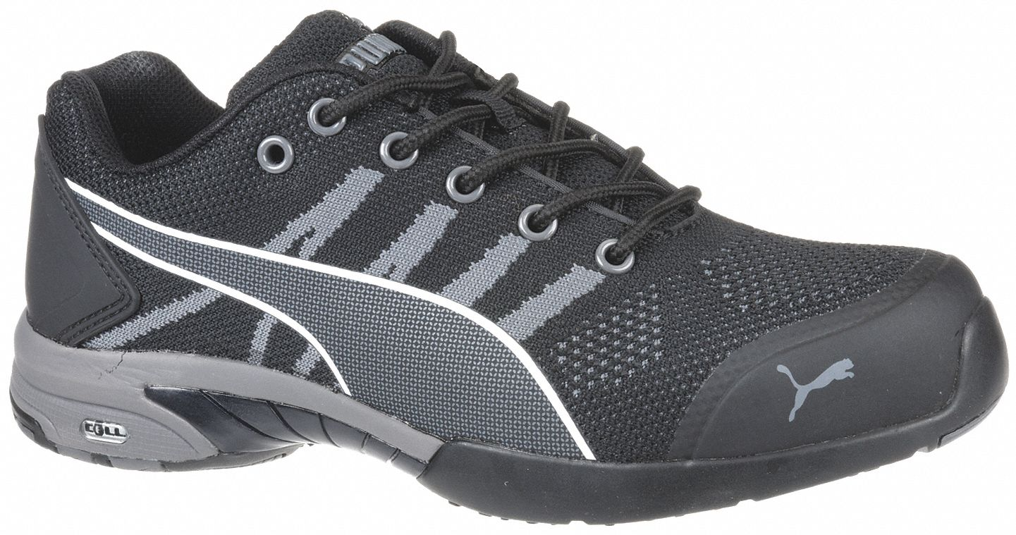 Athletic Shoe,  8-1/2,  C,  Women's,  Black,  Steel Toe Type,  1 PR