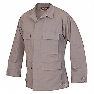 "Military Coat, R/S Fits Chest Size 34"" to 36"", Gray Color"