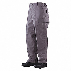 "Men's Tactical Pants. Size: R/S, Fits Waist Size: 28"" to 30"", Inseam: 32"", Gray"