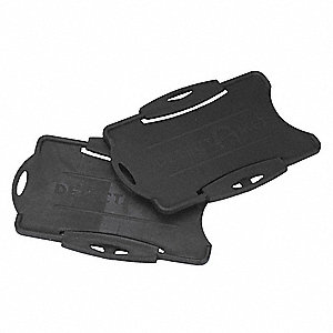 Swipecard Holder, Plastic, Black, PK50