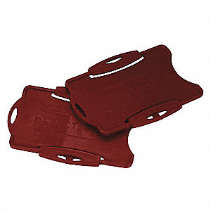 Swipecard Holder, Plastic, Red, PK50