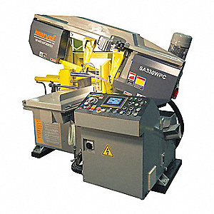 5 HP Horizontal and Mitering Band Saw, Voltage: 230, Max. Blade Length: 163""