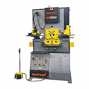 Hydraulic Ironworker, 62 tons Max. Force