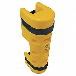 "Pallet Rack Protector, Polyethylene, 5-1/4"" Overall Width, 18"" Overall Height, 6"" Overall Length"
