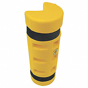 "Pallet Rack Protector, Polyethylene, 6"" Overall Width, 18"" Overall Height, 6"" Overall Length"