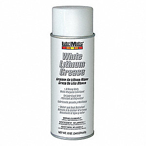 White Lithium Multipurpose Grease, 12 oz., NLGI Grade: 2