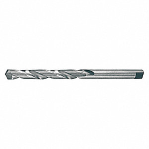 "Carbide-Tipped Taper Length Drill Bit, 39/64"", Uncoated"