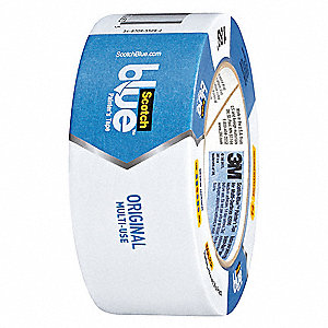Masking Tape, 55m x 48mm, Blue, 5 mil, Package Quantity 6