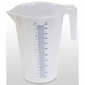 MEASURING CONTAINER FIXED SPOUT 2QT