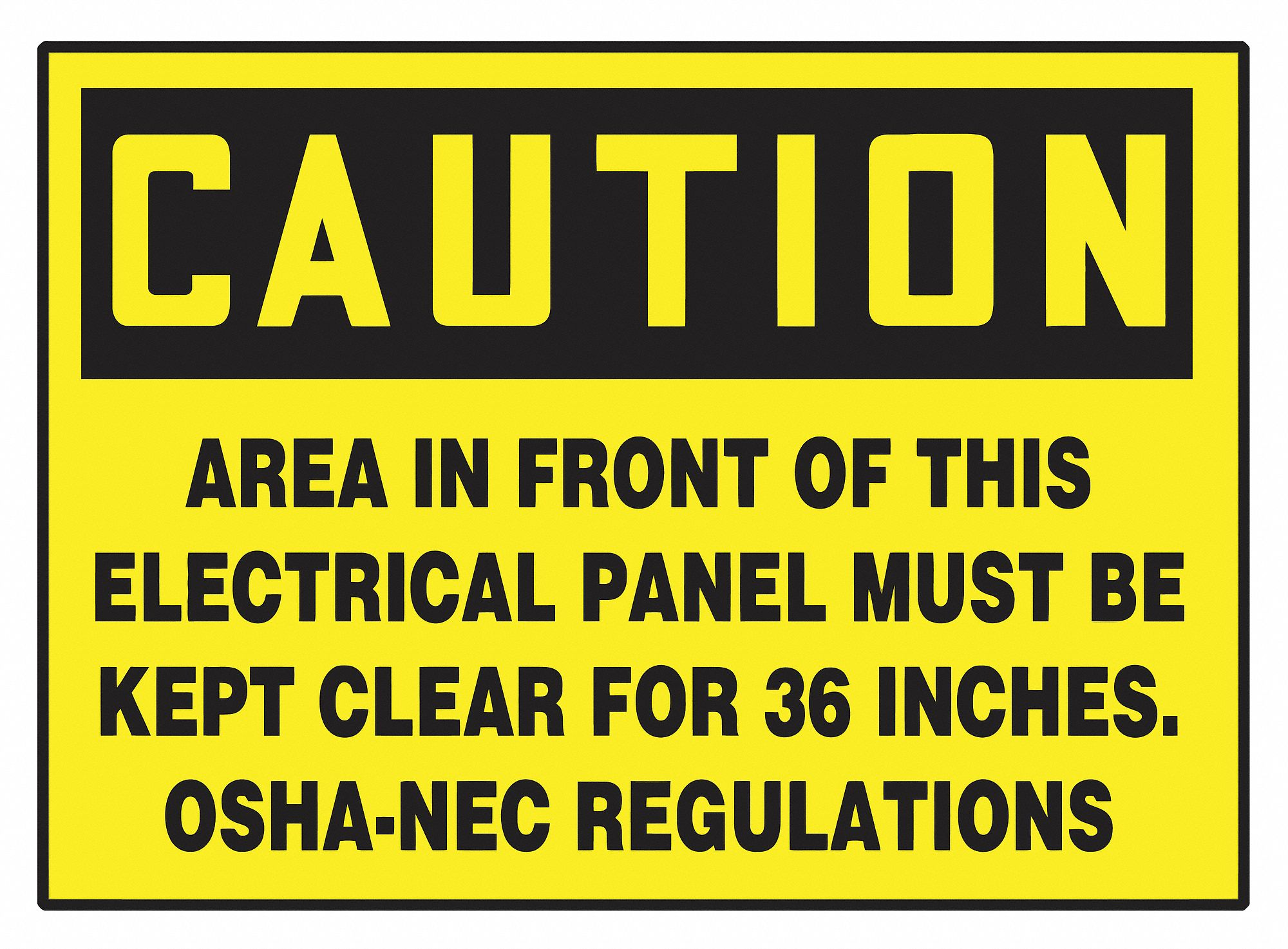 Caution Label,  Sign Format Traditional OSHA