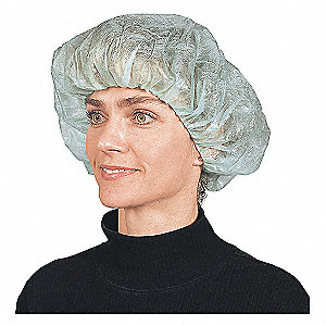 Bouffant Cap,Blue,21 in.,PK100