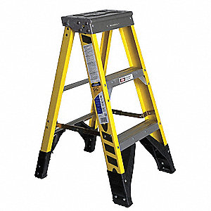 3 ft. 375 lb. Load Capacity Fiberglass Stepladder
