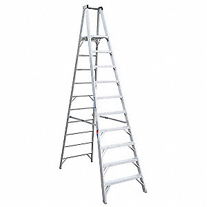 Aluminum Platform Stepladder, 12 ft. Ladder Height, 10 ft. Platform Height, 300 lb.