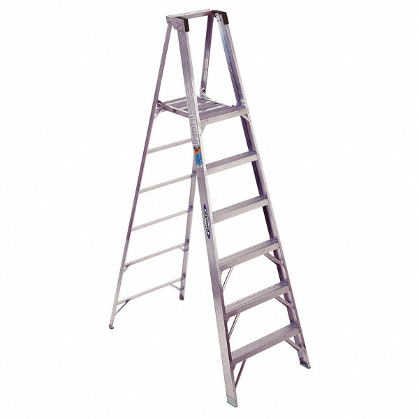 werner aluminum platform stepladder  8 ft  ladder height