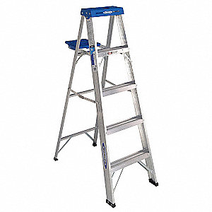 5 ft. 250 lb. Load Capacity Aluminum Stepladder