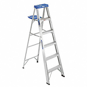 6 ft. 250 lb. Load Capacity Aluminum Stepladder
