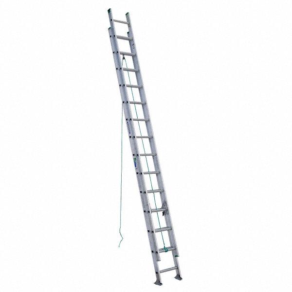 WERNER 28 ft. Aluminum Extension Ladder, 225 lb. Load