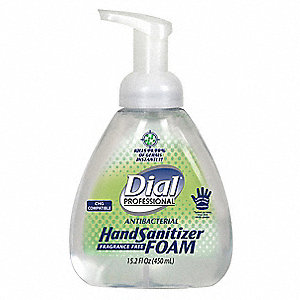 15.2 oz. Foam Sanitizer Pump Dispenser, 4 PK