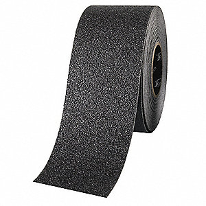 "Solid Black Anti-Slip Tape, 4"" x 50.0 ft. Grit Aluminum Oxide, Acrylic Adhesive, 1 EA"