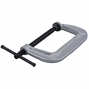 "Gray,Standard C-Clamp,1 Size (In.),645 Load Capacity (Lb.),1-1/16"" Throat Depth"