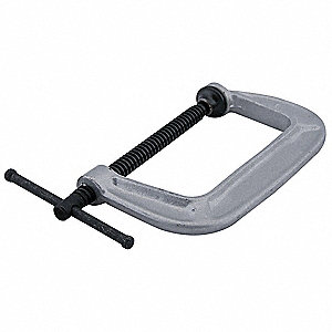 "Gray,Standard C-Clamp,8 Size (In.),1700 Load Capacity (Lb.),4"" Throat Depth"
