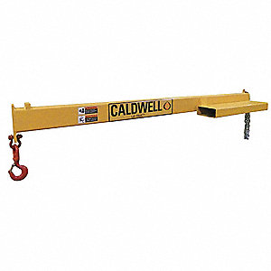 Fixed Length Forklift Boom, 1500 lb., Horizontal Reach 7 ft. Fixed Length