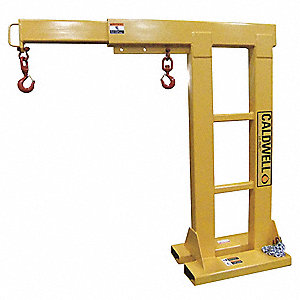 Reach Over Forklift Boom, 4000 lb., Horizontal Reach 4ft. to 6 ft., Adjustable in 1 ft. Increments