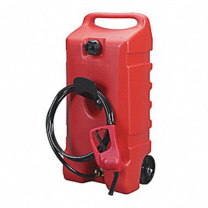 Fuel Caddy, Polyethlene Material, 14 gal. Capacity, Used For Fueling