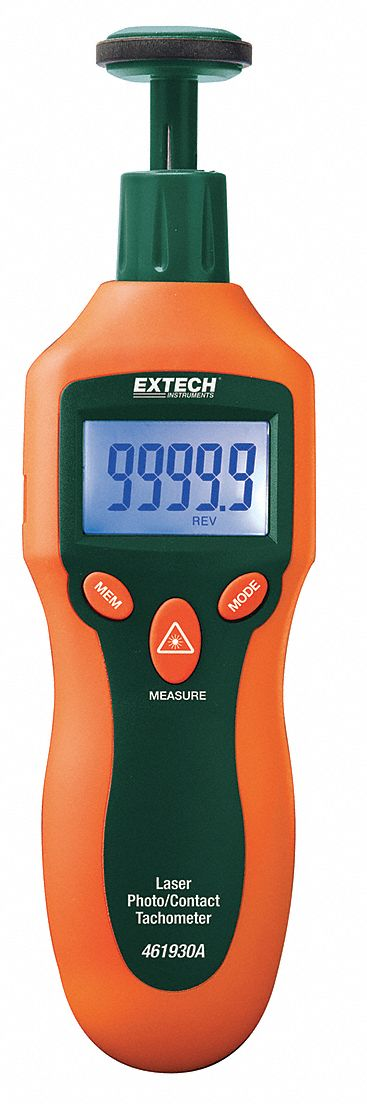 Laser Tachometer, 2 to 20, 000 rpm