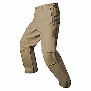 "Men's Tactical Pants. Size: 50"", Fits Waist Size: 50"", Inseam: Unhemmed, Desert Tan"