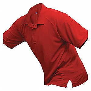 Mens Tactical Polo,Red,Short Sleeve,XS